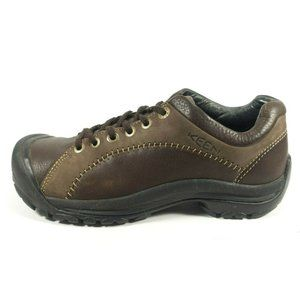 Keen Brown Leather Lace Up Casual Oxford Shoes